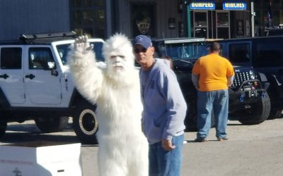 YETI at the Jeep place.